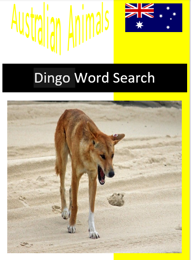 Dingo Word Search
