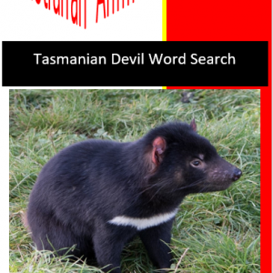 Tasmanian Devil Word Search