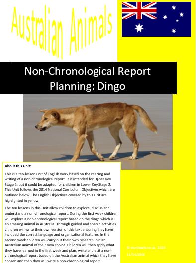 dingo non-chronological report