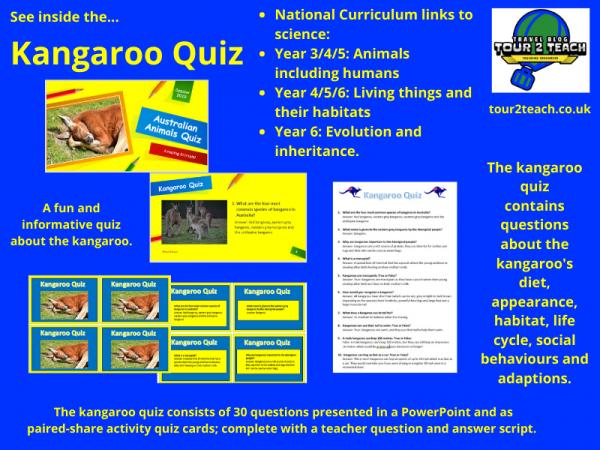 Kangaroo quiz inside cover