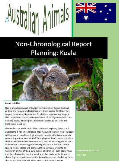 Koala non-chronological report