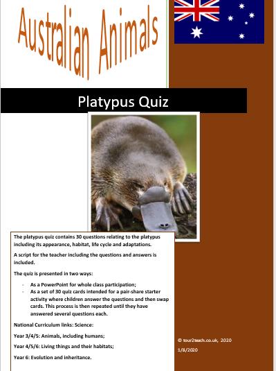 Platypus quiz