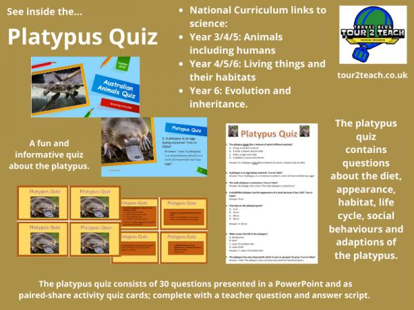 platypus quiz inside cover