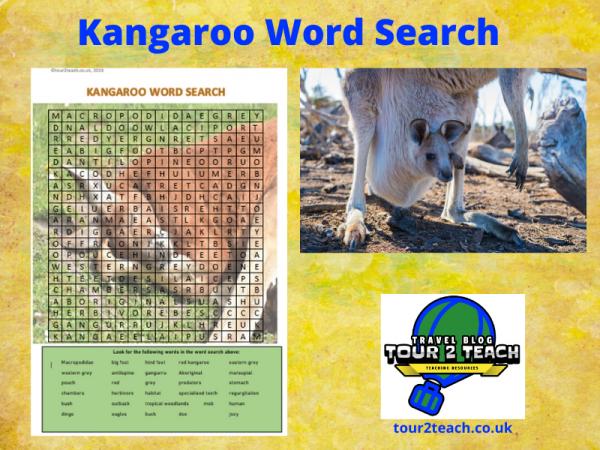 kangaroo word search