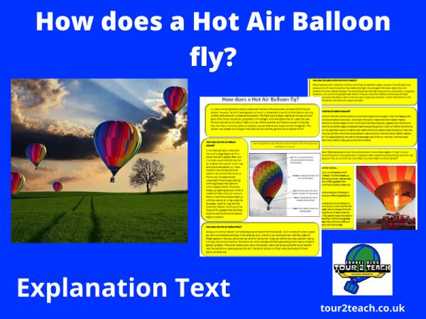 Balloon explanation text cover