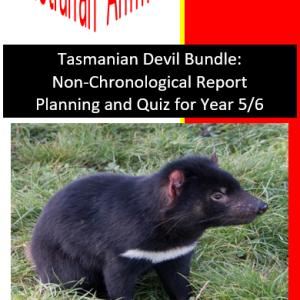 Tasmanian Devil Bundle Planning and Quiz