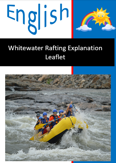 Whitewater Rafting Explanation Text Leaflet