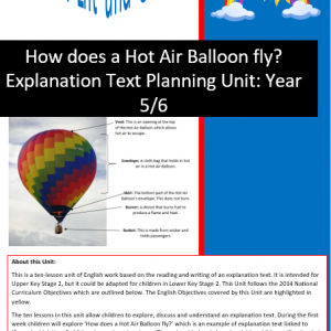 how does a hot air balloon fly explanation text planning